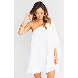 Show Me Your Mumu Zsa Zsa Dress One Shoulder White